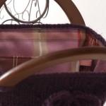 Sac Myrtille tricoté main au point semi-piqué