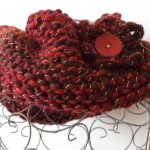 snood étincelle tricoté main