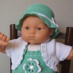 ensemble layette tricoté main Maëlle