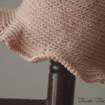 chapeau petite fille au crochet rose poudr