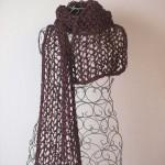 écharpe résille tricotée main