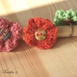 fleurs de printemps tricotées