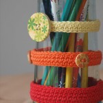 vases customisés au crochet