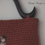 sac Dolls au crochet, rouge garance