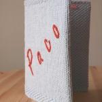 protège carnet de santé tricoté main