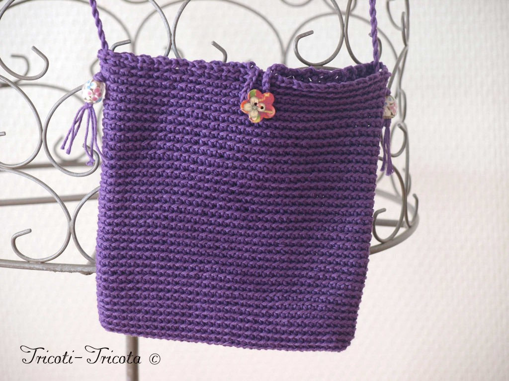 Sac crochet et broche tricotin tricoti tricota - Sac en tricot a faire soi meme ...