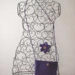 sac crochet et broche tricotin