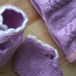 ensemble layette bonnet+chaussons