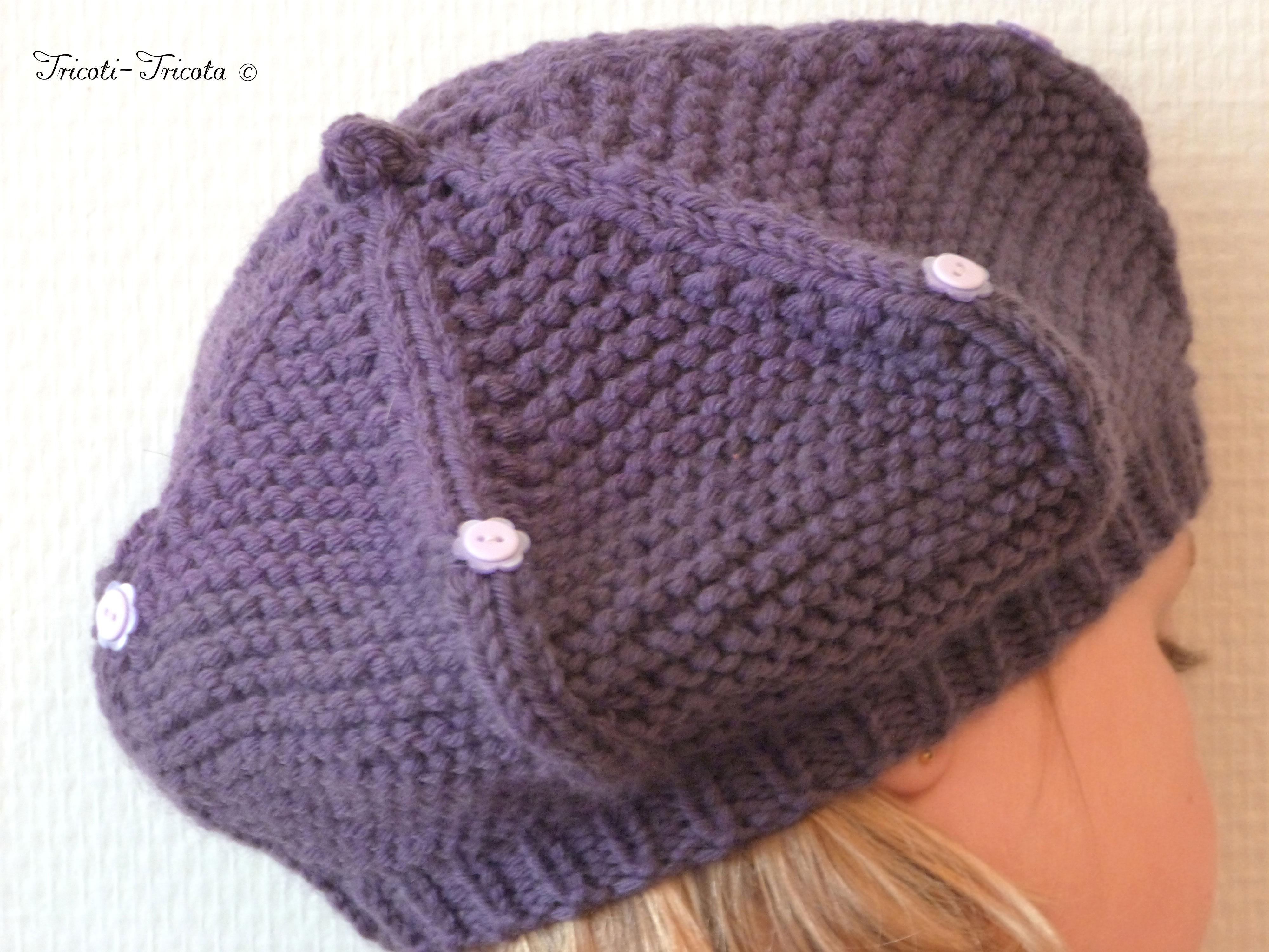 tricoter beret fillette