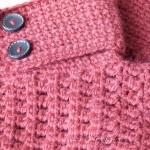 chaussons d'hiver rouges au crochet