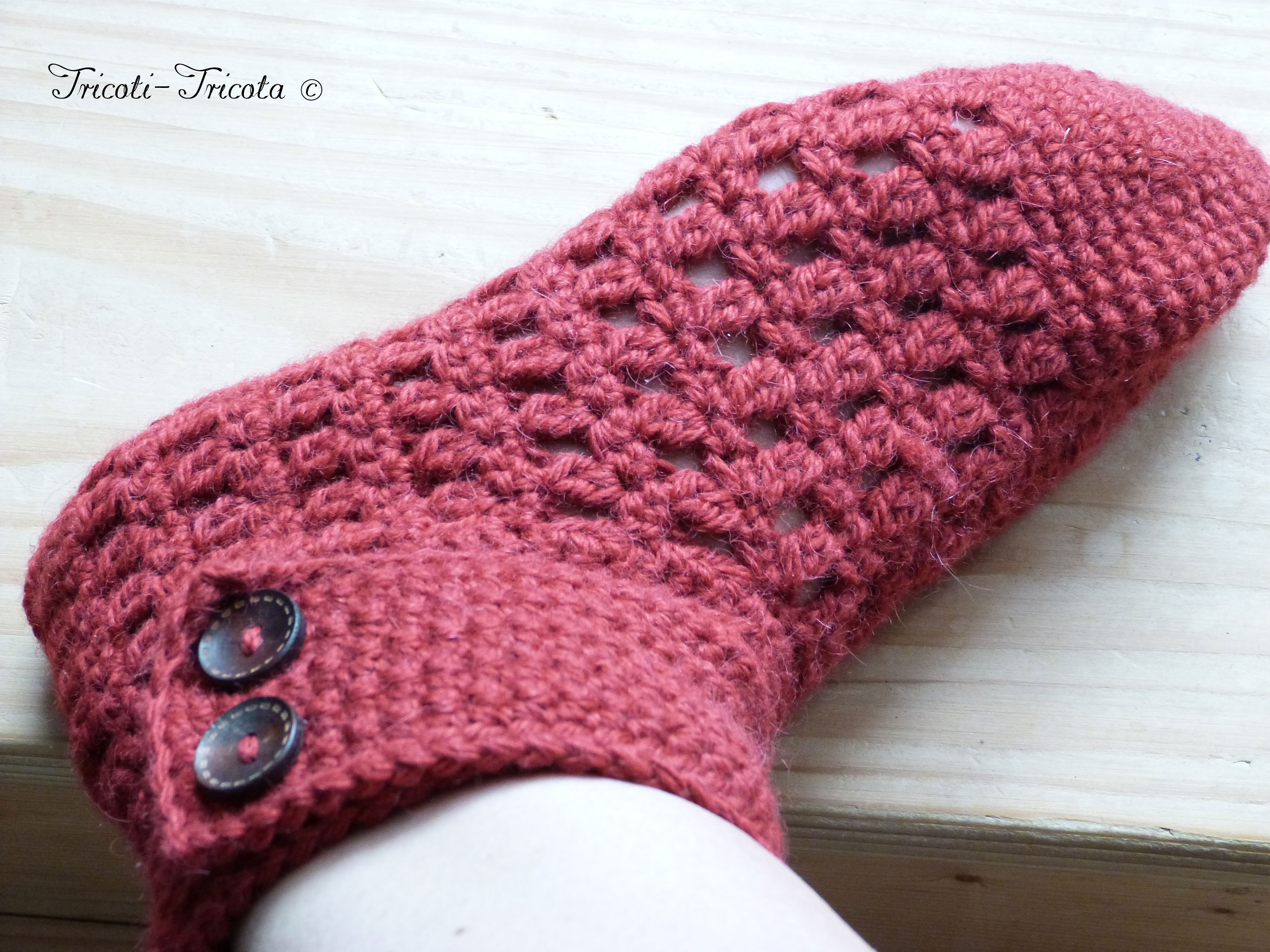 chausson crochet femme