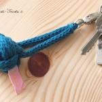 Porte-clés pomme de Touline en tricotin