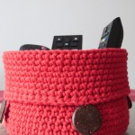 corbeille crochet rouge