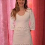 robe tricotée main bordures crochet