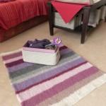 tapis tricot en laine à feutrer